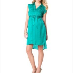 Motherhood Maternity High-Low Dress - green